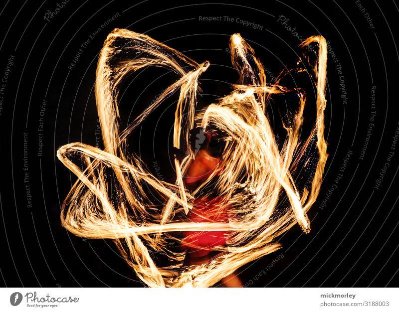 Feuertanz Freude Leben gelb feminin Feste & Feiern außergewöhnlich Party Freizeit & Hobby leuchten gold Abenteuer Tanzen fantastisch Warmherzigkeit Urelemente
