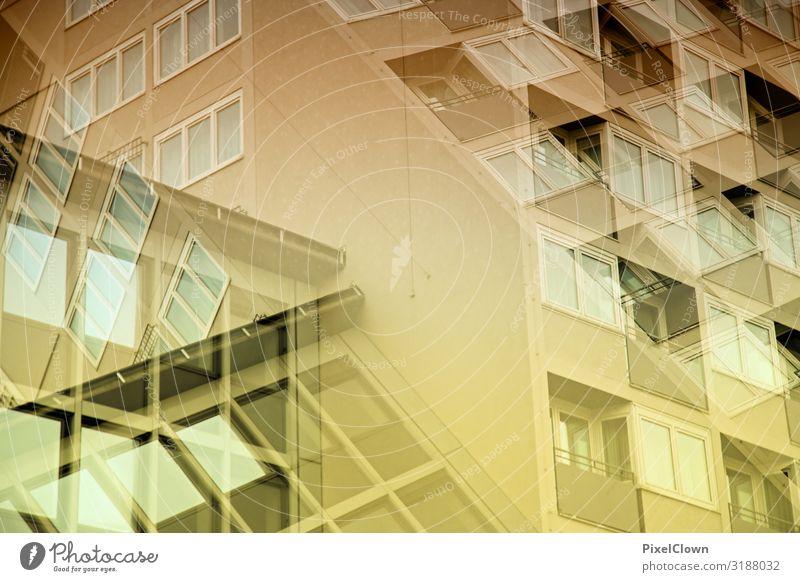 Bunte Wohnkultur Stil Design Häusliches Leben Handwerker Kunst Haus Bauwerk Gebäude Architektur Mauer Wand Fassade Stadt gelb Stimmung Umzug (Wohnungswechsel)