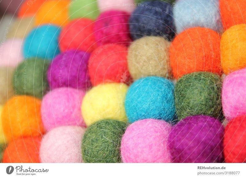 bunte Kugeln Schwache Tiefenschärfe Unschärfe Tag Farbfoto Vielfältig viele Zusammenhalt Zusammensein Farbe Toleranz Integration mehrfarbig Verschiedenheit