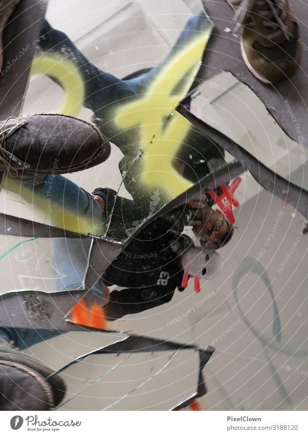 Anarchie Mensch Mann Freude Lifestyle Erwachsene Kunst Körper 45-60 Jahre Jugendkultur trashig Subkultur