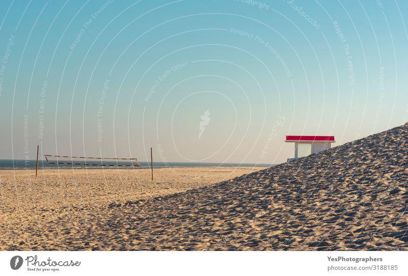 Sommerlandschaft an der Nordsee. Sylt Strand Ferien & Urlaub & Reisen Tourismus Sommerurlaub Sonne Natur Landschaft Sand Wasser Himmel Sonnenlicht Klimawandel