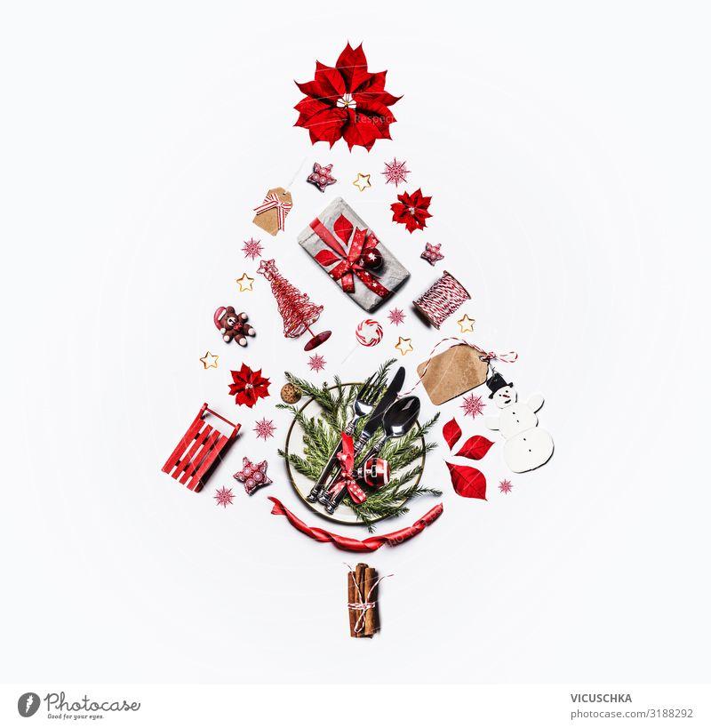 Weihnachtsbaum gemacht mit Weihnachten Sachen Stil Design Winter Feste & Feiern Weihnachten & Advent Dekoration & Verzierung Kitsch Krimskrams Sammlung Ornament