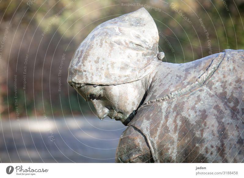 arbeitende. Stil Arbeit & Erwerbstätigkeit Handwerker Arbeitsplatz Baustelle Kopf Kunst Skulptur Schönes Wetter Kopftuch ästhetisch schön Kraft Willensstärke