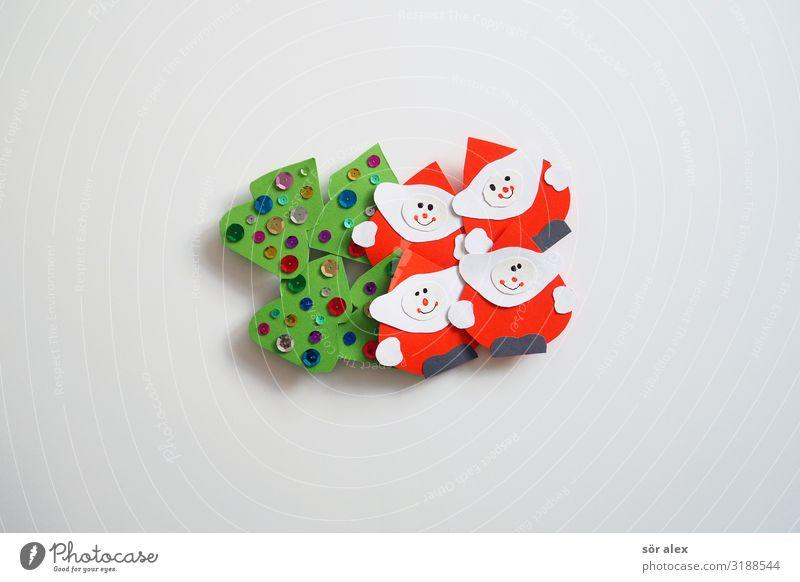 Weih.Vorb. Weihnachten & Advent grün weiß rot Freude Religion & Glaube Glück Feste & Feiern glänzend Lächeln Fröhlichkeit niedlich Freundlichkeit Zusammenhalt