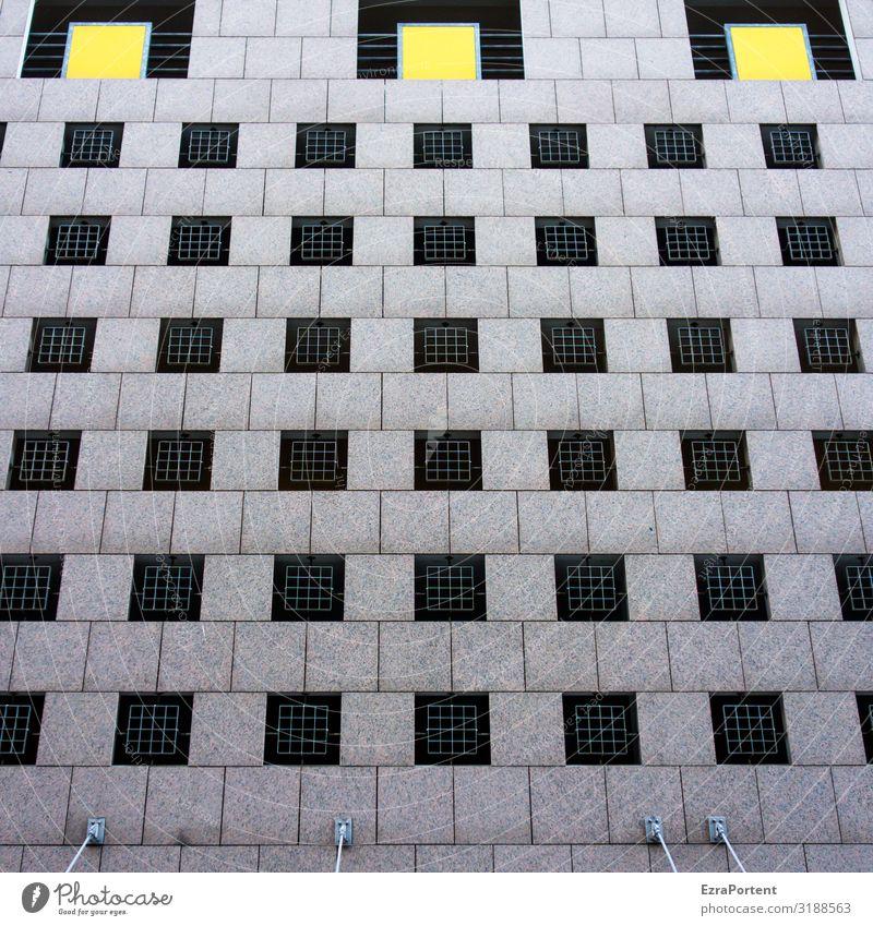 ~ Farbe Haus Fenster Architektur gelb Wand Gebäude Mauer Fassade grau Design Linie Beton Streifen Bauwerk graphisch
