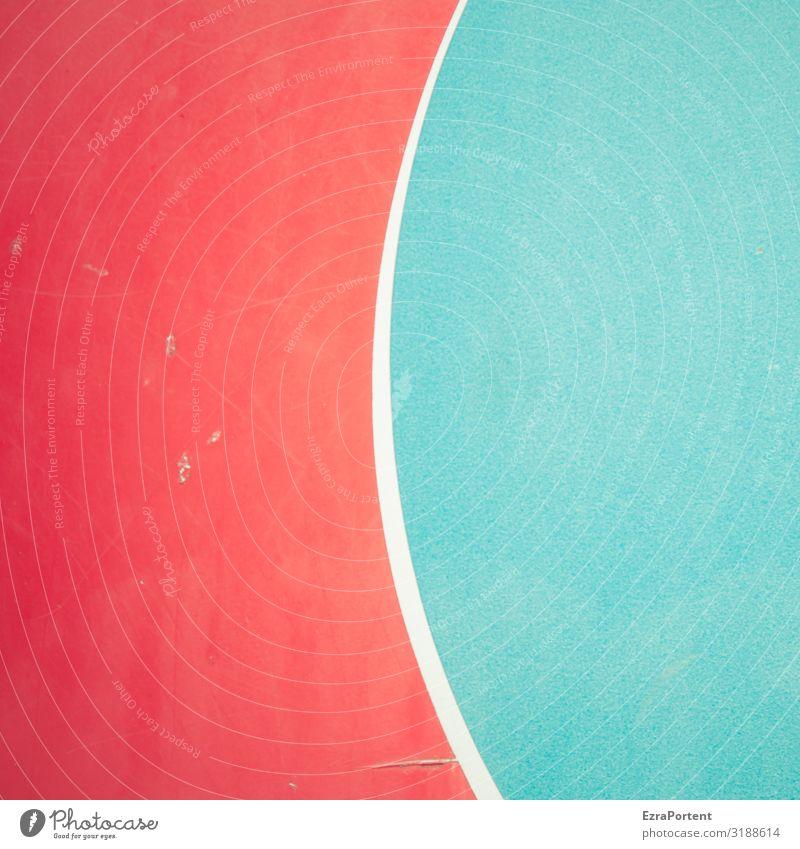 ( blau Farbe weiß rot Stil Design Linie elegant ästhetisch Schilder & Markierungen Grafik u. Illustration Zeichen graphisch Grafische Darstellung