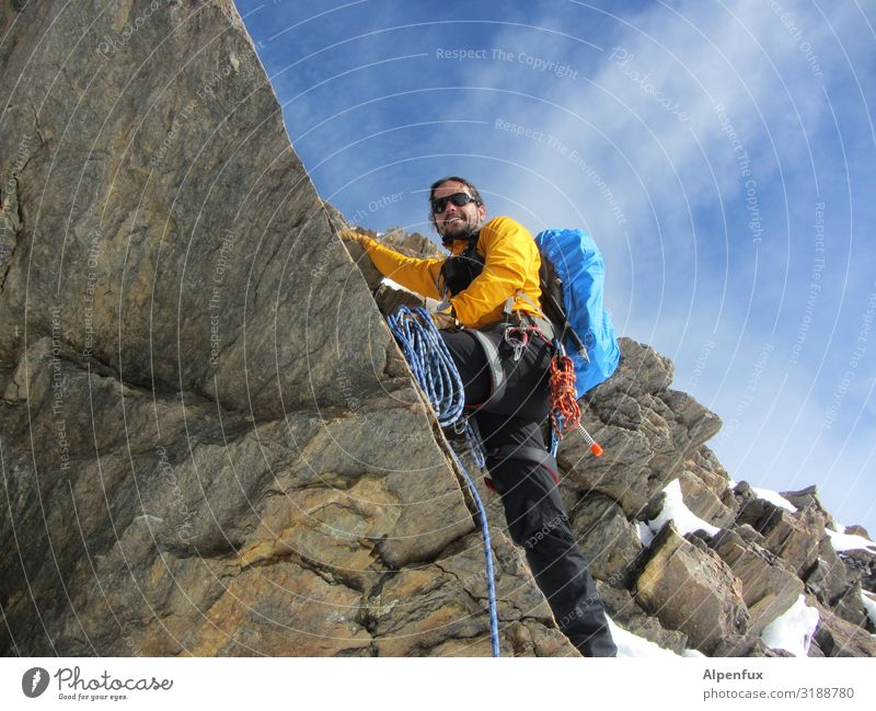fux on the rox Mensch maskulin Mann Erwachsene 30-45 Jahre Felsen Alpen Berge u. Gebirge Lächeln lachen hoch Freude Glück Fröhlichkeit Zufriedenheit