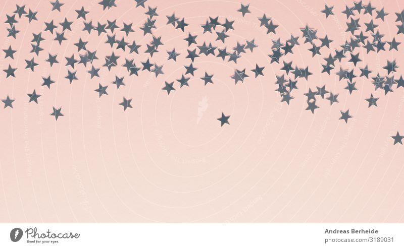 Sternchen Weihnachten & Advent Winter Stil rosa Design Dekoration & Verzierung elegant Stern (Symbol) Zeichen Lebewesen Silvester u. Neujahr silber