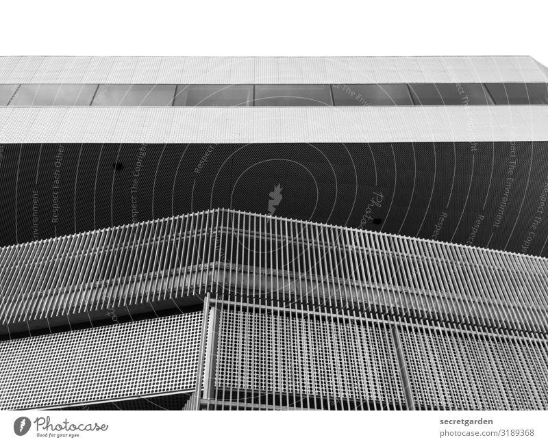 Strukturfunktionalismus. Himmel Stadt Architektur kalt Beton Baustelle neu Balkon Rost Stahl minimalistisch Neubau