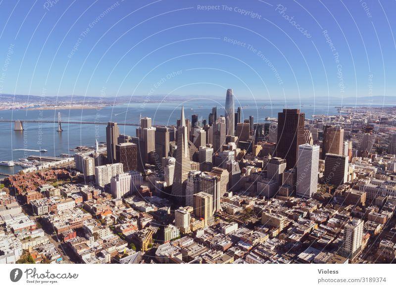 San Francisco Großstadt Kalifornien USA Stadt Hochhaus Oakland Bay Bridge Transamerica Pyramide
