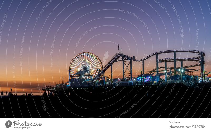 Santa Monica Pier USA Wahrzeichen Anlegestelle Kalifornien Route 66 Los Angeles