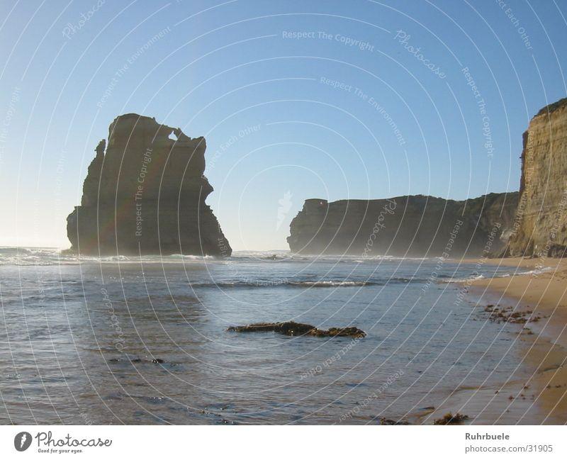 Gibson Steps Wasser Strand Wellen Felsen Australien Brandung Gischt Great Ocean Road
