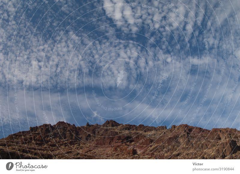 Klippen und Wolken. Geschützte Landschaft von Timijiraque. Valverde. El Hierro. Kanarische Inseln. Spanien. Natur natürlich wild Biosphäre Kanaren