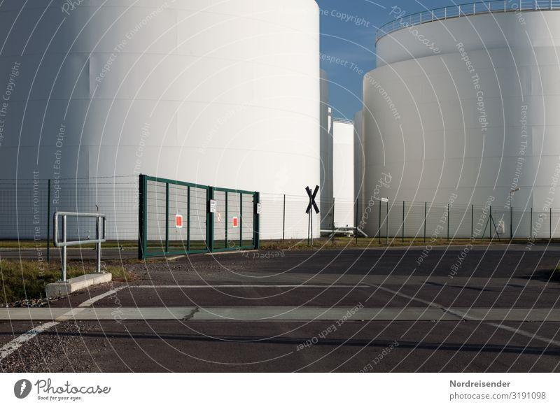 Tanklager Arbeit & Erwerbstätigkeit Beruf Fabrik Wirtschaft Industrie Güterverkehr & Logistik Energiewirtschaft Technik & Technologie Energiekrise Himmel