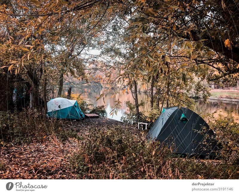 Armut in Deutschland – Zelte am Landwehrkanal Ferien & Urlaub & Reisen Tourismus Ausflug Abenteuer Ferne Freiheit Sightseeing Städtereise Umwelt Stadtrand