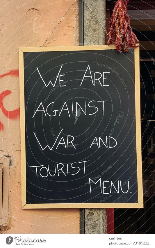 Rom   Touristenmenu Ferien & Urlaub & Reisen Tourismus Tafel Gastronomie Schilder & Markierungen Krieg Werbung Italien Reisefotografie Stellungnahme Farbfoto