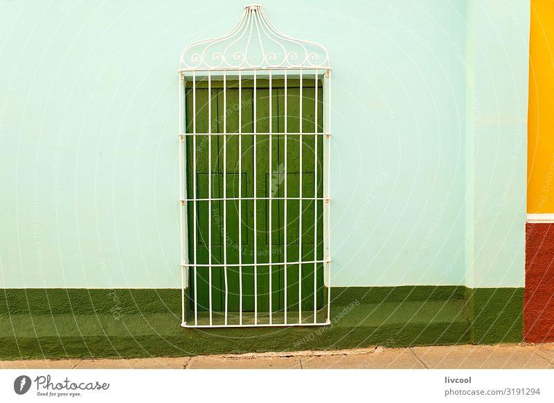 Ferien & Urlaub & Reisen alt Stadt Farbe schön grün rot Haus Fenster Straße Architektur Lifestyle gelb Wand Gebäude Kunst