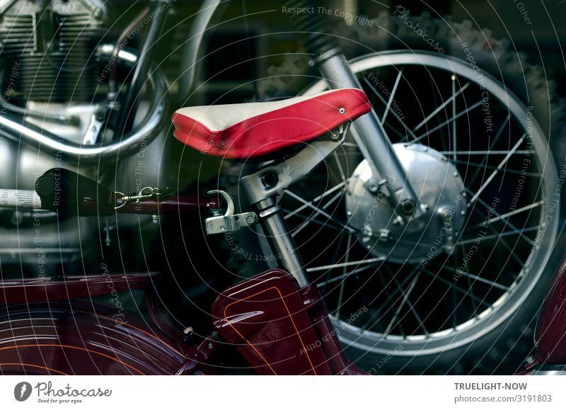 Fortbewegungstechnik Stil Design Freude Freizeit & Hobby Oldtimer Kleinmotorrad Motorrad Motorradreifen Verkehrsmittel Straßenverkehr alt ästhetisch authentisch