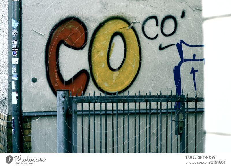 CO co' ...Gruß an time.s Zaungeschichten Lifestyle Stil Freude Freizeit & Hobby Haus Dekoration & Verzierung Kunst Kultur Jugendkultur Subkultur Graffiti