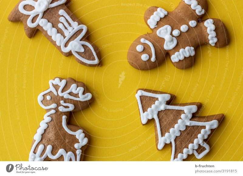Weihnachtslebkuchen Lebensmittel Teigwaren Backwaren Süßwaren Ernährung Feste & Feiern Weihnachten & Advent Dekoration & Verzierung wählen genießen frisch