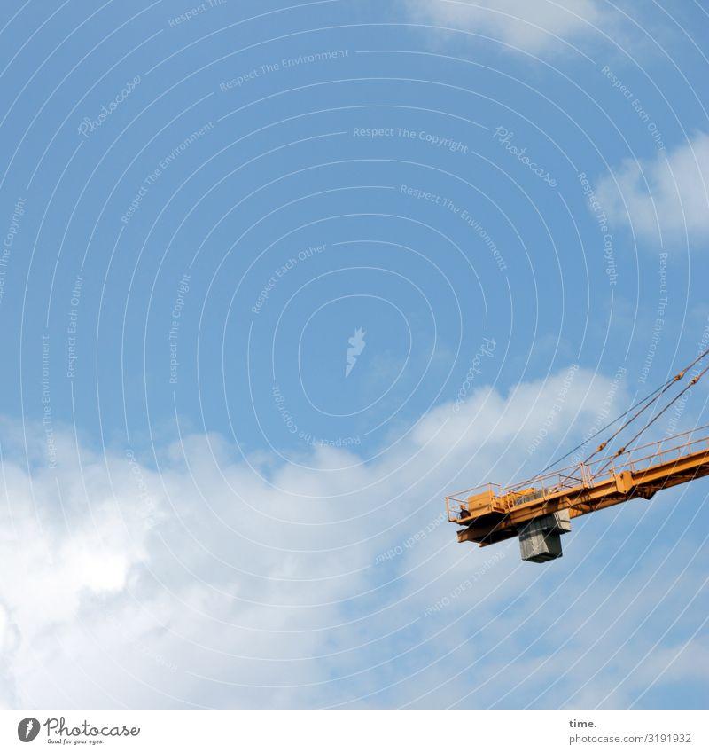 Stadtgiraffen (4) Arbeit & Erwerbstätigkeit Arbeitsplatz Baustelle Technik & Technologie Industrie Himmel Wolken Schönes Wetter Kran Metall hell hoch Kraft