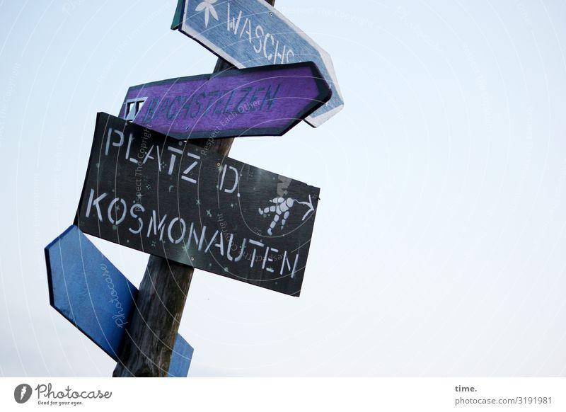 für alle was dabei Himmel Sendemast Holz Zeichen Schriftzeichen Schilder & Markierungen Linie Pfeil Idee Inspiration Kreativität Problemlösung Ordnung Vertrauen