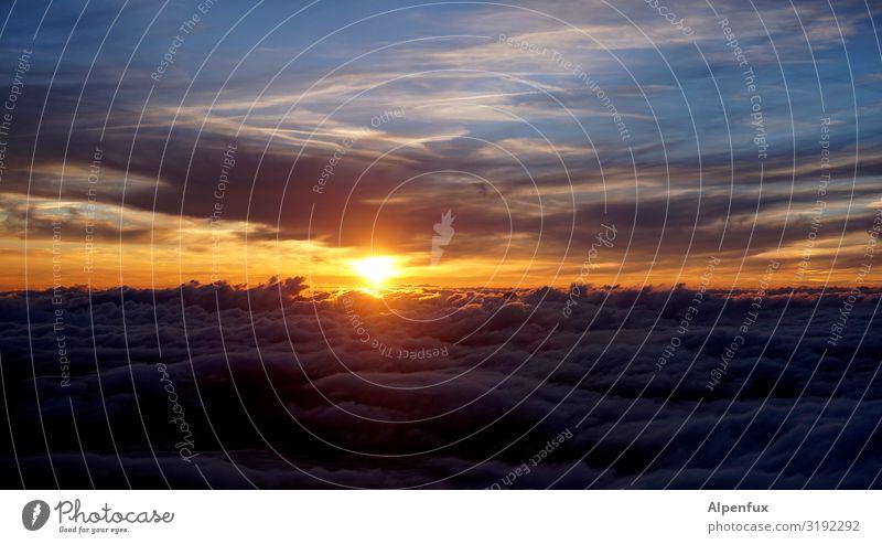 The music don´t die Sonnenuntergang Wolken Abenddämmerung Himmel Horizont Landschaft Natur Dämmerung Außenaufnahme Menschenleer schön Sonnenlicht Farbfoto Licht