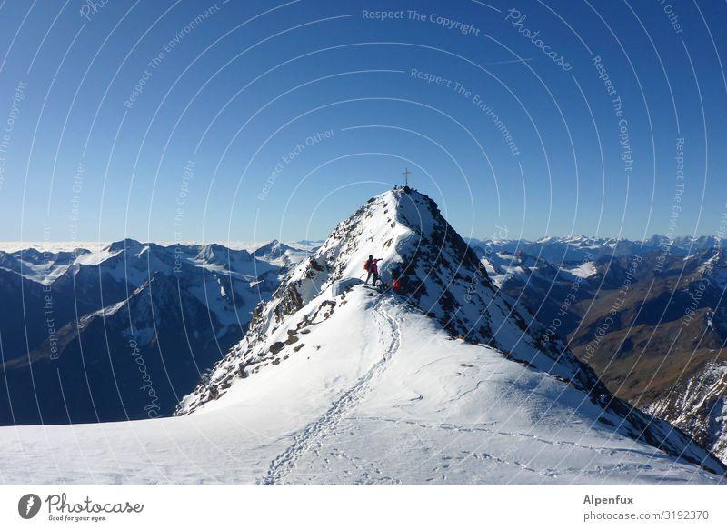 Wildspitze Schönes Wetter Eis Frost Felsen Alpen Berge u. Gebirge Gipfel Schneebedeckte Gipfel Gletscher fantastisch Unendlichkeit kalt Freude Glück