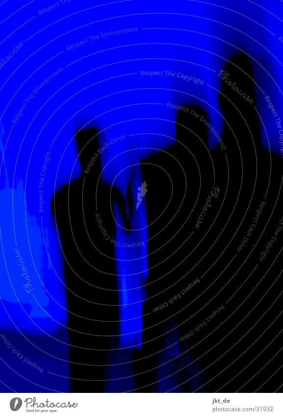 blue print - gruppe 1 Mensch blau schwarz Bewegung Menschengruppe