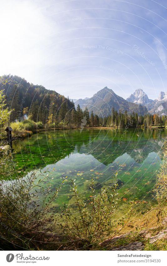 Sommer landscape at the Schiederweiher in austria Ferien & Urlaub & Reisen Berge u. Gebirge Natur wandern Lebensfreude Erholung Freizeit & Hobby alpin alps