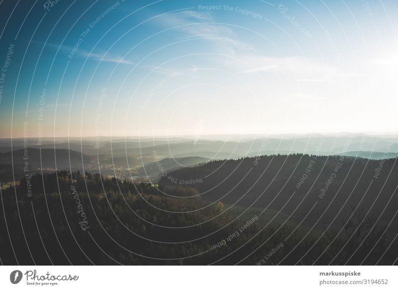 Fernsicht vom Ossinger Aussichtsturm Ferien & Urlaub & Reisen schön Landschaft Erholung Ferne Berge u. Gebirge Herbst natürlich Tourismus Freiheit Ausflug