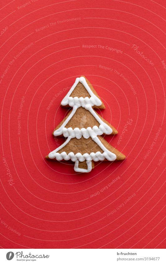 Weinachtsbaum Lebkuchen Weihnachten & Advent rot Baum Lebensmittel Essen Feste & Feiern Dekoration & Verzierung frisch genießen Zeichen Backwaren Süßwaren