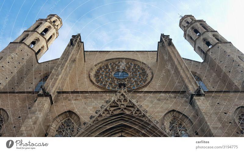 Barcelona|Santa Maria del Mar Spanien Born Kathedrale Gotik Altstadt Tourismus Ferien & Urlaub & Reisen Reisefotografie Religion & Glaube Kirche