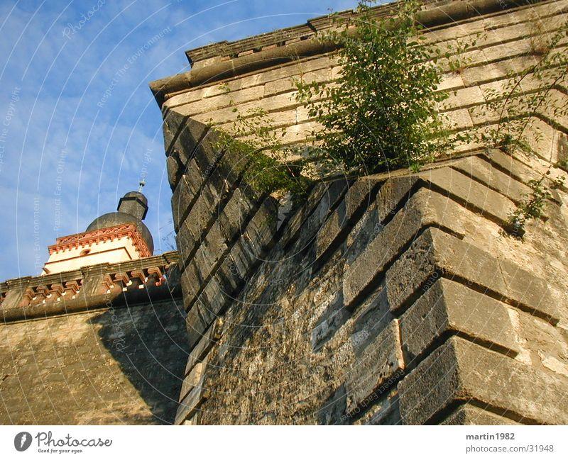 Bastion Himmel blau Wolken Mauer Architektur Festung Würzburg Festung Marienberg