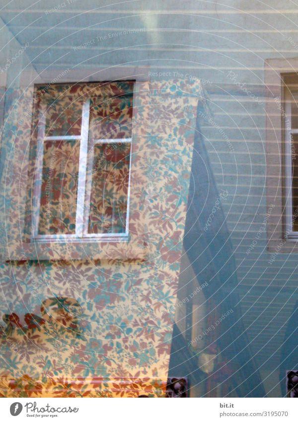 Unscharf l Blümchentapete schön Haus Wand Mauer Fassade verrückt Kitsch trashig
