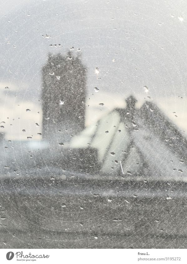 Apostelkirche Hamburg Stadt Haus Kirche Dach alt ästhetisch grau Glaube Kirchturm Regen Oberlicht Farbfoto Außenaufnahme Textfreiraum oben