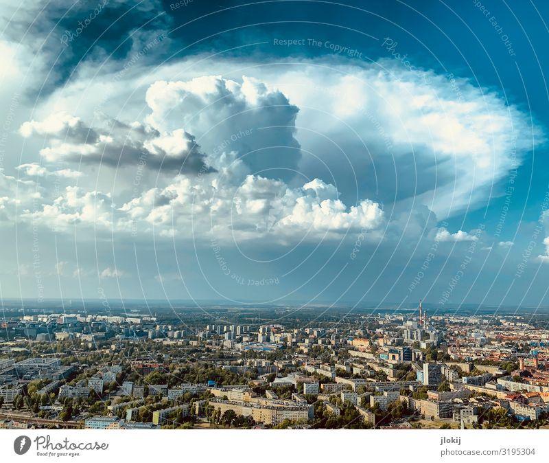 Erscheinung Tier Urelemente Himmel Wolken Gewitterwolken Sommer Klima Klimawandel Wetter Schönes Wetter Unwetter Breslau Polen Stadt Stadtzentrum Altstadt Haus
