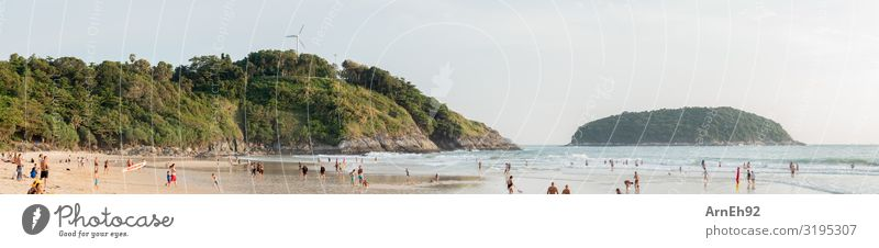 Tropischer Strand Schwimmen & Baden Mensch maskulin feminin Kind Mädchen Junge Junge Frau Jugendliche Junger Mann Erwachsene Menschenmenge Umwelt Natur