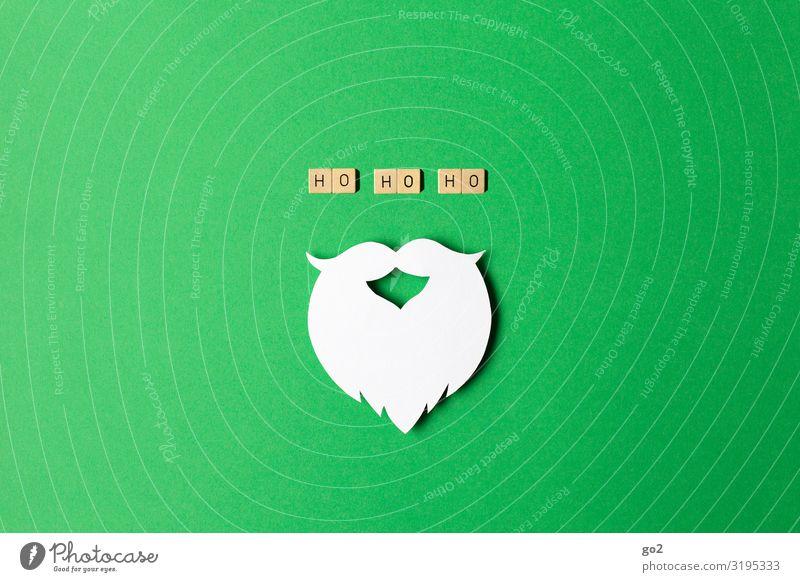 Ho Ho Ho Weihnachten & Advent grün Freude Holz lustig Gefühle Spielen Stimmung Design Dekoration & Verzierung ästhetisch Fröhlichkeit Kreativität Papier Idee