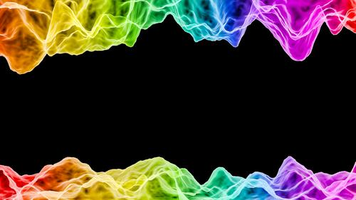 Acoustic waves - Podcast Concept 3D Render schwarz Design Kommunizieren verrückt Grafik u. Illustration Informationstechnologie trendy dreidimensional High-Tech
