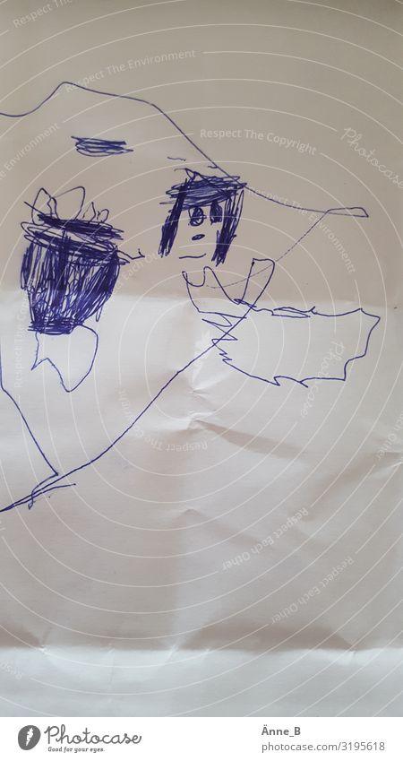 Kleiner Engel mit Trommel Freizeit & Hobby Kinderspiel zeichnen Kritzelei Kinderzimmer Feste & Feiern Kindererziehung Kindergarten lernen Kleinkind Gesicht Auge