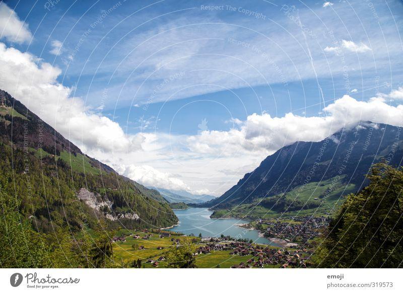 Lungernsee Umwelt Natur Landschaft Himmel Frühling Sommer Schönes Wetter Berge u. Gebirge See natürlich blau grün Schweiz Tourismus Farbfoto Außenaufnahme