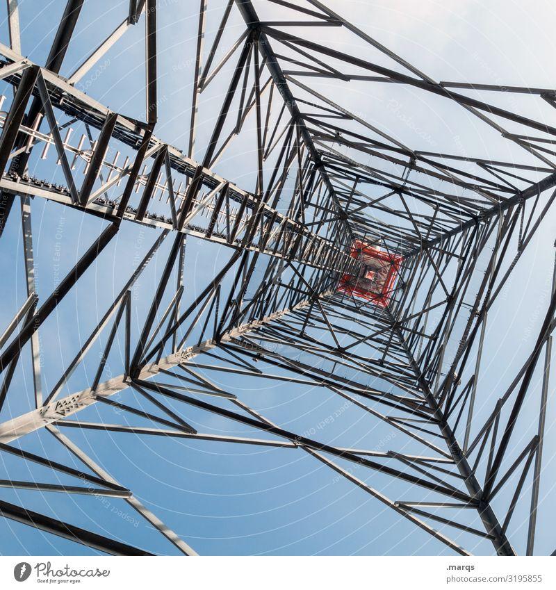Energie Energiewirtschaft Technik & Technologie authentisch Elektrizität Wolkenloser Himmel Strommast
