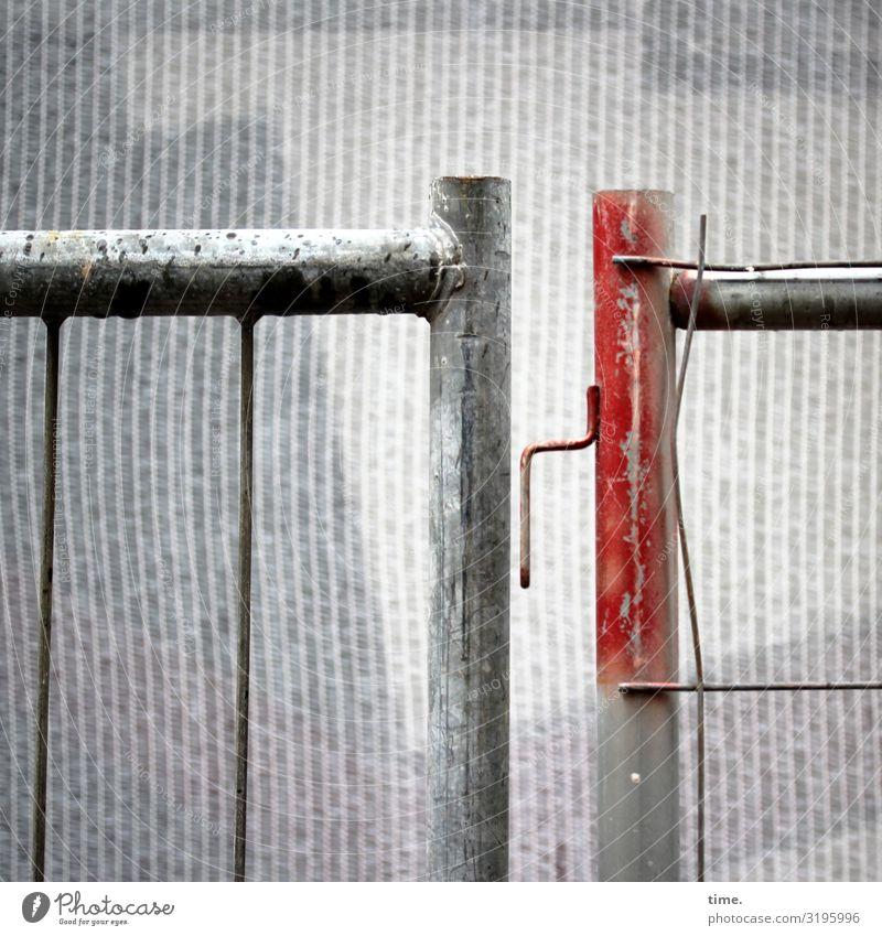 Geschichten vom Zaun (LVIII) Stadt Zusammensein Arbeit & Erwerbstätigkeit Metall Kommunizieren Ordnung Wandel & Veränderung Neugier Baustelle Schutz Sicherheit