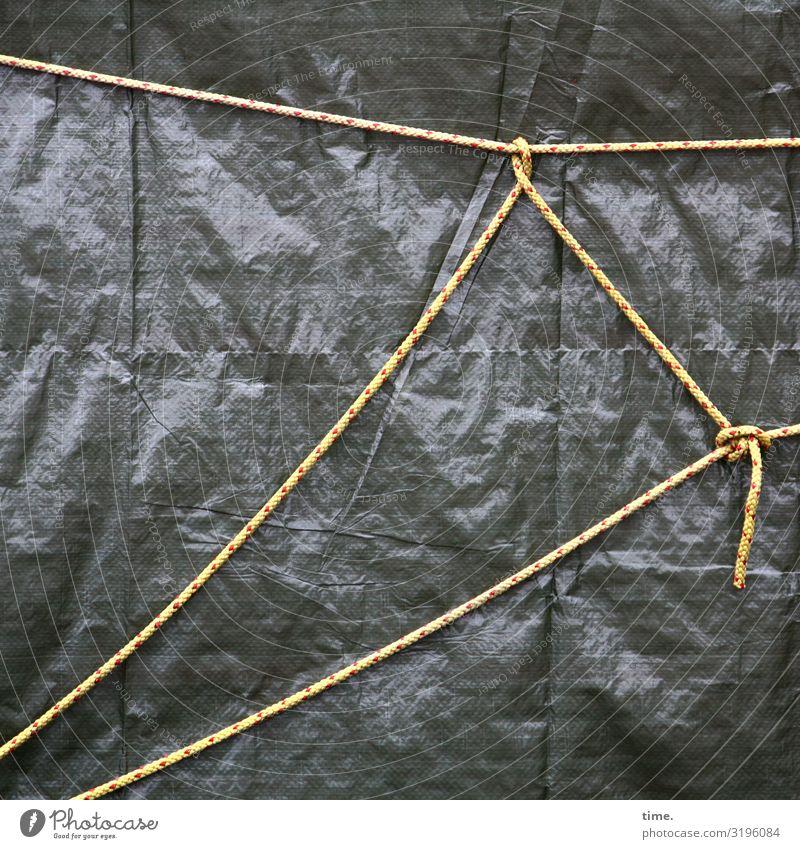 Seilschaften (VI) Verpackung Abdeckung Bauplane Tau Knoten Neugier Misstrauen Partnerschaft entdecken komplex Kreativität Problemlösung Netzwerk Optimismus