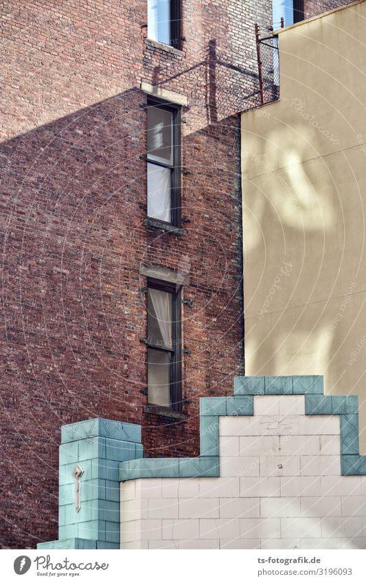 Fassaden spielen Tetris New York City Stadt Stadtzentrum Haus Bauwerk Gebäude Architektur Mauer Wand Balkon Fenster Dach Dachrinne Stein Beton Backstein Linie