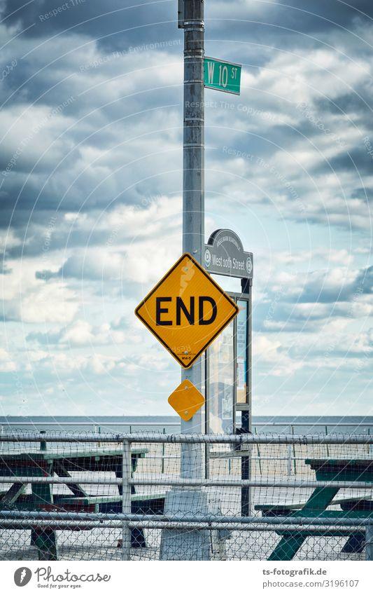The End Umwelt Natur Himmel Wolken Gewitterwolken Klima Klimawandel Küste Seeufer Strand Meer New York City Coney Island Verkehr Verkehrswege Wege & Pfade