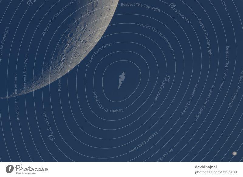 Mond und Jupiter bei Tageslicht Teleskop Technik & Technologie Wissenschaften Fortschritt Zukunft High-Tech Raumfahrt Astronomie Kunst Umwelt Natur Himmel