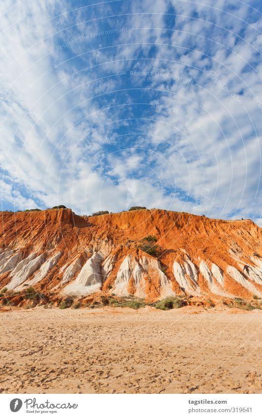 AYERS RÖCKCHEN Portugal Algarve Praia da Falesia Felsen massiv Felsmassiv Sandalgarve orange Ferien & Urlaub & Reisen Reisefotografie Idylle Postkarte Tourismus
