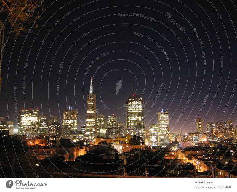 SanFran @ night Hochhaus Skyline Kalifornien Nachtaufnahme Nordamerika San Francisco